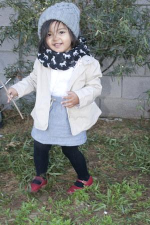 Baby Gap hat - Gegrge jacket - stein mart scarf - Baby Gap blouse - Target skirt
