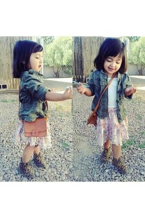 Target shirt - zulily shoes - H&M jacket - Target purse - DKNY skirt