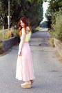 Light-pink-cut-out-three-floor-dress-nude-asos-heels