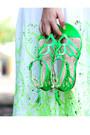 Lime-green-embroidered-asos-dress-hot-pink-duffel-asos-bag