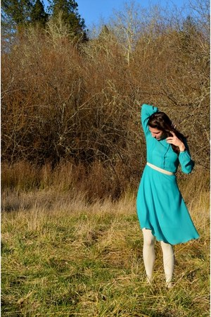turquoise blue turquoise vintage dress