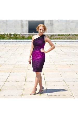 purple ombre dress Adrianna Papell dress