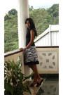 Zebra-print-skirt-black-top