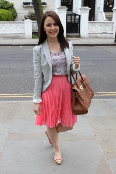 Mulberry bag - whistles skirt - Miu Miu flats - sass & bide top