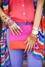Hot-pink-dress-hot-pink-bag-chartreuse-bag-chartreuse-pumps