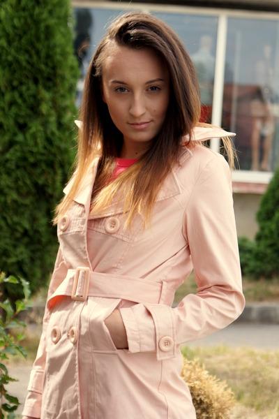light pink coat - pink shirt