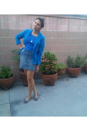 blue Forever 21 blazer - blue cotton on shirt