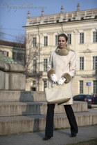 black celyn b pants - cream rinascimento coat - cream prada bag
