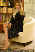 black celyn b coat - black Gucci bag - nude Coccinelle pumps