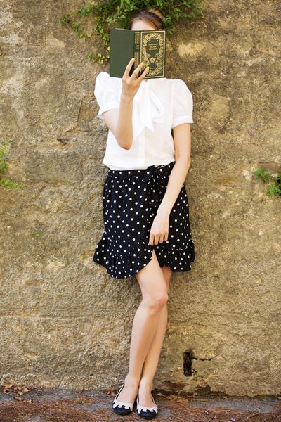 Moschino skirt - FCUK blouse - Iron First flats