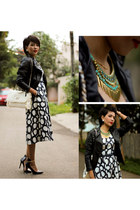 Debenhams dress - Sheinsidecom jacket - Zara heels