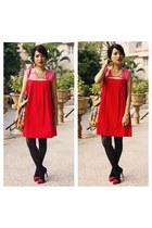 red Zara heels
