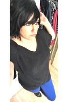 blue no brand pants - black Mossimo shirt