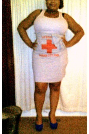 DIY skirt - Forever 21 top - unknown pumps