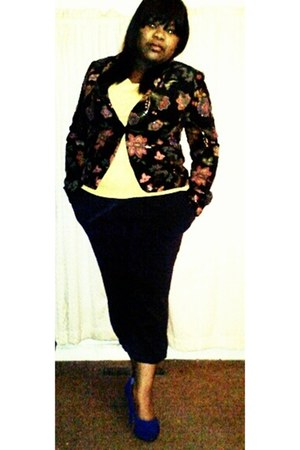thrifted blazer - Forever 21 shirt - thrifted pants - unknown pumps