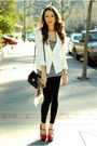 White-queens-wardrobe-jacket-black-forever-21-leggings