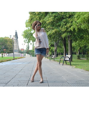 Gap shorts - new look blouse - costom made flats