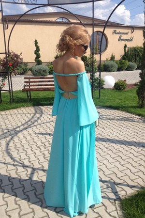 aquamarine custom made dress