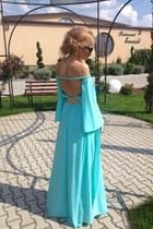 aquamarine custom made dress