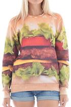 Delicious Hamburger Graphic Sweatshirt