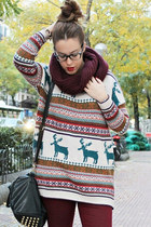 Nordic Print Oversized Knitted Jumper
