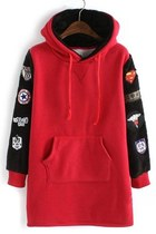 Lovely Casual Applique Furry Fleece Hoodie