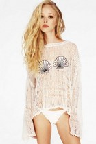 Destroyed Sequined Shell Sweater