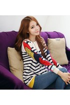Relaxed Parrot Striped Sweater