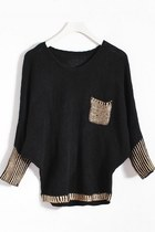 Loose Batwing Sleeve Sweater