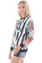 stripe Oasapcom sweatshirt