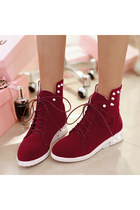 Studded Ankle Faux Suede Woman Sneaker