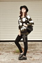 Camouflage Long Sleeve Sweater