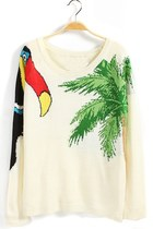 Woodpecker And Tree Graphic Sweater