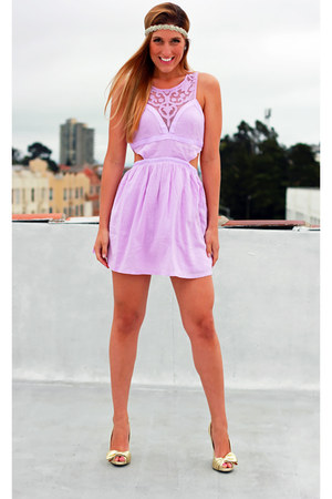 light purple Millau dress - gold Charlotte Russe heels