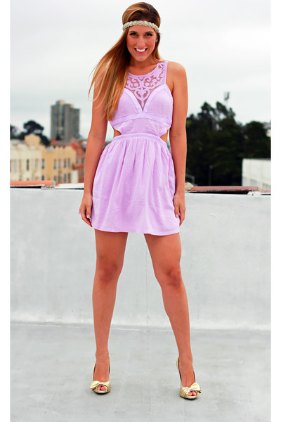 Light Purple Millau Dresses, Gold Charlotte Russe Heels ...