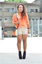 light orange neon sweater - black lita lookalike Mana boots