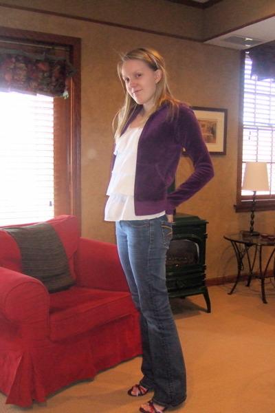 purple Juicy Couture jacket - white Target top - blue Seven jeans - purple shop