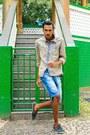 Light-blue-jacket-blue-dmarkas-shorts
