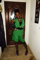 green Accessorize shorts - green thrifty Accessorize vest