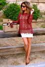 Camel-gucci-bag-camel-stradivarius-skirt-maroon-zara-blouse