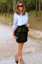black Zara bag - black Mango sunglasses - black Windsord skirt