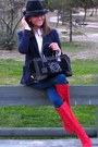 Navy-hollister-jeans-ruby-red-pilar-burgos-boots-navy-denny-rose-hat