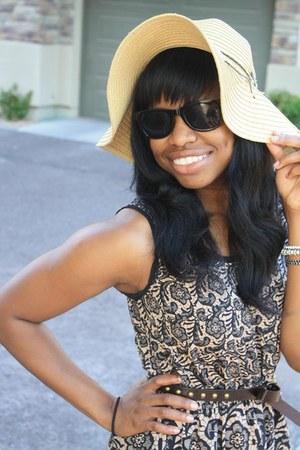 printed Rodarte dress - floppy hat hat - H&M sunglasses