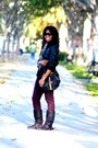 Black-bamboo-by-journee-boots-maroon-patterned-mossimo-pants