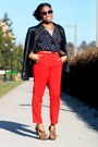 Navy-apart-style-blazer-black-cynthia-rowley-sunglasses-blue-nastygal-blouse