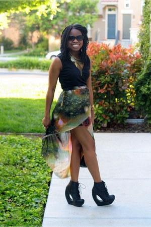 asymmetrical Universe Skirt skirt - Michael Kors sunglasses