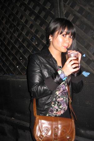 black H&M jacket - H&M cardigan - H&M bracelet - Urban Outfitters accessories