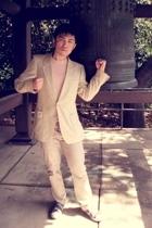 Yves Saint Laurent blazer - H&M pants - Tretorn shoes - American Apparel shirt