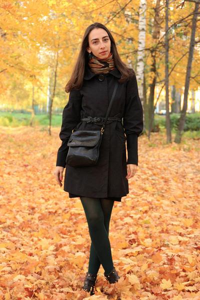dark brown leather Topshop boots