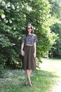 Black-h-m-sunglasses-army-green-zara-skirt